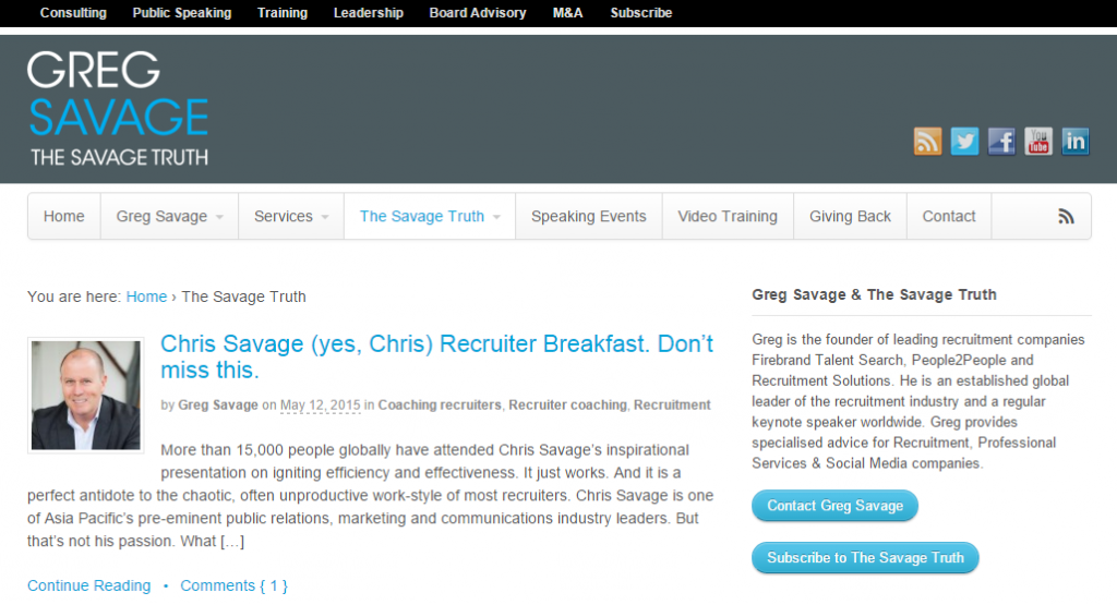 Latest News Blog   Greg Savage - The Savage Truth