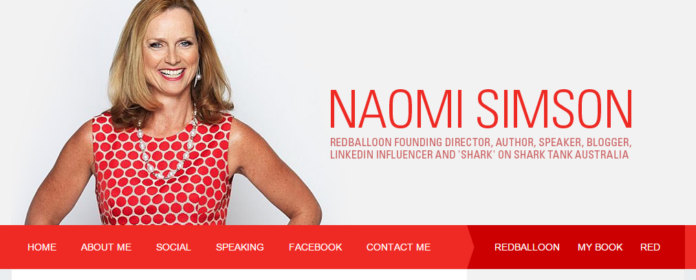 Naomi Simson   Business Blog from a Woman Entrepreneur